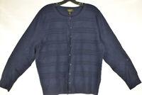 Charter Club Women's Cashmere Cardigan, Sweater, Blue, Size M, $169, NwT