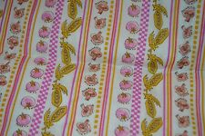 1973 Originelle Cotton Fabric The Garden Stripes and Checkered Pattern