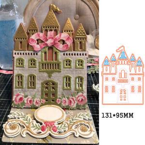 Metal cutting die princess castle craft template Scrapbooking card mould stencil