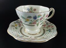 Foley China Tea Cup & Saucer Summer Flowers with Gold Gilt Trim