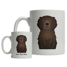 Curly Coated Retriever Dog Cartoon Mug - Personalized Text Coffee Tea Cup