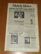 MELODY MAKER 1949 #848 NOV 5 JAZZ SWING GOODMAN BARNET NADIA DORE RAY BURNS