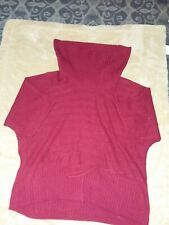 Kim Rogers Women Size 3X red short sleeve cowl neck sweater New without tags