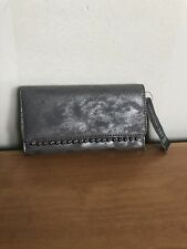 ** INC INTERNATIONAL CONCEPTS VALLIEE Grey Leather Wallet Msrp $39