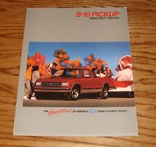 Original 1989 Chevrolet S-10 Pickup Truck Sales Brochure 89 Chevy