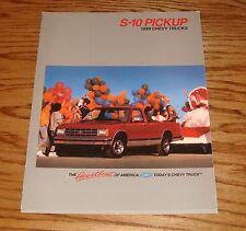Original 1989 Chevrolet Truck S-10 Pickup Sales Brochure 89 Chevy