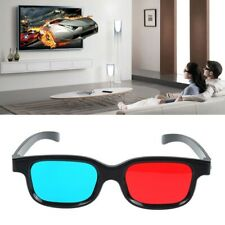 Black Frame Red Blue 3D Glasses For Dimensional Anaglyph DVD Movie Game L3F4