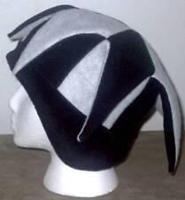 NEW fleece jester snowboard hat- black and gray