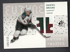 Daniel Briere 2002-03 SP Game Used Future Fabrics Game Worn Jersey Patch Card