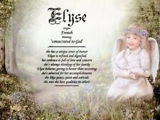 """""""Child Angel"""" Personalized Name Meaning Prints (Girl's Room, Christian, Nursery)"""