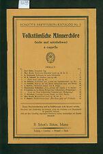 Volkstümliche Männerchöre a capella 1925 Partituren-Katalog No. 2