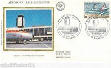 1982**ENVELOPPE SOIE**FDC 1°JOUR**AEROPORT BALE-MULHOUSE**TIMBRE Y/T 2203