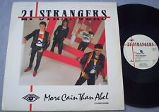 """21 STRANGERS More Cain Than Abel 80s UK SYNTH POP Virgin 12"""" PICTURE SLEEVE"""