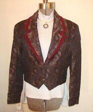 Ladies Western Show BurgGrey Jacket Bust 42 sz 14 MINT!