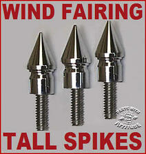 TALL CHROME SPIKE WIND FAIRING BOLTS 2000-13 HARLEY STREET GLIDE & ELECTRA GLIDE