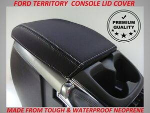 FITS FORD TERRITORY NEOPRENE CONSOLE LID COVER (WETSUIT MATERIAL)JUNE 2011-2016