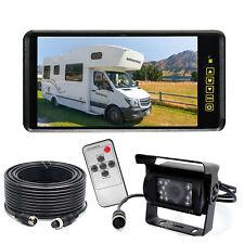 """9"""" Rear view Mirror Monitor 12V/24V Reversing 4 PIN CCD Camera Car Truck Caravan"""
