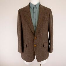 Vintage 100% Pure Wool Blazer - Place Two (Nordstrom) - Brown/Plaid - 40R