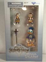 Disney Kingdom Hearts Diamond Select - Dusk & Donald, Chip & Dale Figures