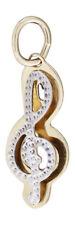 Notenschlüssel - Anhänger in Zweifarbengold - Gold 585  - schöner Goldanhänger