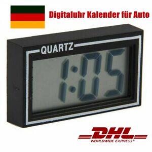 Auto Armaturenbrett Digital Uhr Mini LCD Digitaluhr Kalender für Auto LKW KFZ DE