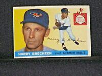 HARRY BRECHEEN #113 Topps 1955 Baltimore Orioles Vintage Original Card EX+