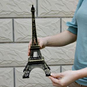 Elegant Bronze Tone Paris Eiffel Tower Figurine Statue Model Decor Home Decor