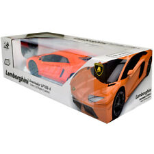 RC RADIO REMOTE CONTROLLED CAR 1.10 ORANGE LAMBORGHINI AVENTADOR KIDS TOY NEW