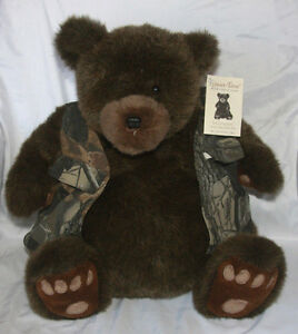 """Carsten's Leisure Time Collection Plush Teddy Bear Ben Camo Hunting Stuffed 15"""""""