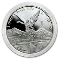LIBERTAD - MEXICO - 2020 2 oz Proof Silver Coin in Capsule - Mintage of 2,800