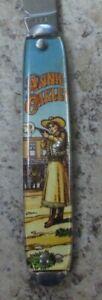 Vintage NOVELTY ANNIE OAKLEY WESTERN COLLECTOR POCKET Knife - USA
