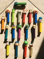 Lot of 18 Vintage Pez Dispensers Disney Characters and Super Hero