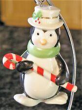 Lenox Very Merry Holiday Porcelain Penguin Christmas Ornament