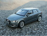 1/18 Scale Audi A3 Sportback Gray DieCast Car Model Toy Collection Gift