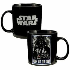 JOIN US OR DIE Star Wars Darth Vader Black Coffee Cup Mug Picture Dark Lord Sith