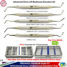 Dental Implant Advance Mushroom Elevators Sinus Lift Bone Graft / Cobra+Cassette