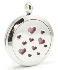 Tiny Love Hearts, Diffuser Necklace Locket Stainless Still 10ml Oil, 11 pads