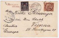 CHINA Shanghai 1901 Cover Postcard French P.O. to Austria Vienna