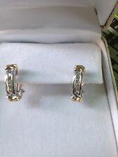 Diamond 10k White Gold NEW Earrings 0.28 Carats