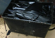 JOB LOT 10kg BLACK LEATHER OFFCUTS/PIECES. THICK AND STRONG. LARP-CRAFTS-DIY