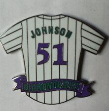 ARIZONA DIAMONDBACKS Purple/Teal & White Pinstripe RANDY JOHNSON # 51 JERSEY PIN