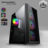 Tecware Vega L, Dual Tempered Glass ATX Mid  Gaming Computer Case w/4 RGB Fan