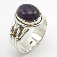 Ring Size 8 Stone Jewelry 925 Sterling Silver Oval Shape Amethyst