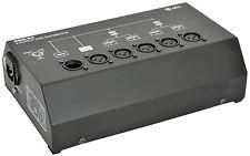 QTX SPLITTER DMX 4 vie distributore BOOSTER ILLUMINAZIONE A LED DJ