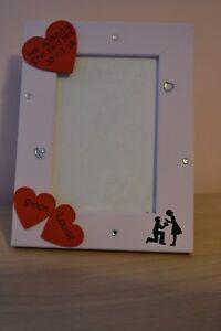 Personalised handmade photo frame HE ASKED SHE SAID YES  wedding engagement