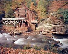 Glade Creek Mill Nature Trees Landscape Scenery Wall Decor Picture (8x10)