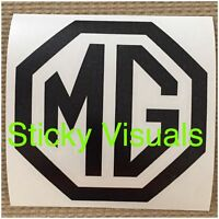 MG British Car Logo Decal Sticker Gloss & Matt Vinyl Pick your Color and Size