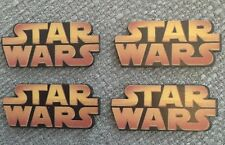 4 x Star Wars resine Flatback cabachons capelli fiocco cake topper LOGO