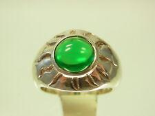 Schöner Thomas Sabo Ring 925 Sterlingsilber Sonne mit grünen Stein