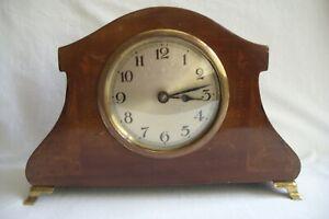 Antique / Vintage Inlaid Mechanical Wind Mantel Clock.